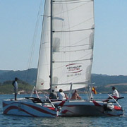 sailing in fornells bay